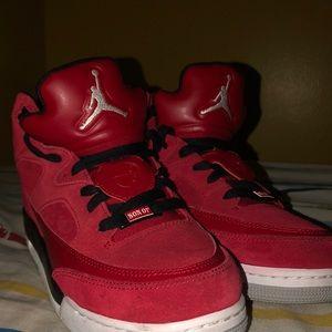 Jordan sun of mars basketball shoes red